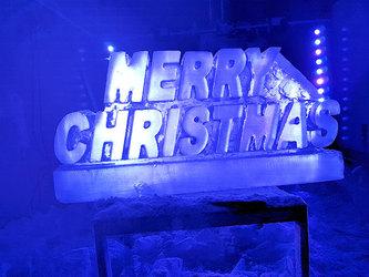 MERRY CHRISTMAS Vodka Ice Luge