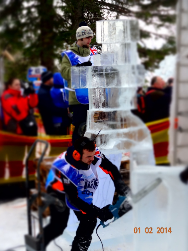 Competition ice carving Slovakia.