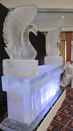 Ice Bar 2m wide with Swans