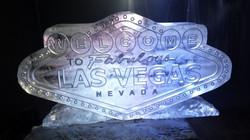 Vegas Sign Vodka Ice Luge