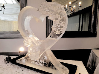 Wedding Heart Picture Frame Ice Sculpture