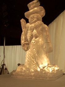 Snowman Ice Sculpture Vodka luge