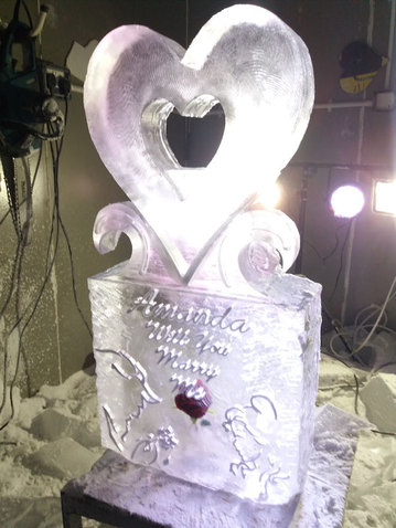 Engagement Ice Sculpture/Luge