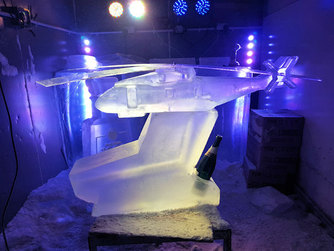 Helicopter Vodka Ice Luge