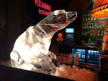 Sitting Polar Bear Vodka Luge