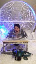 Jagermeister Logo Ice Sculpture Fun