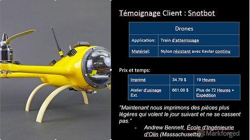 Markforged Drones landing gear