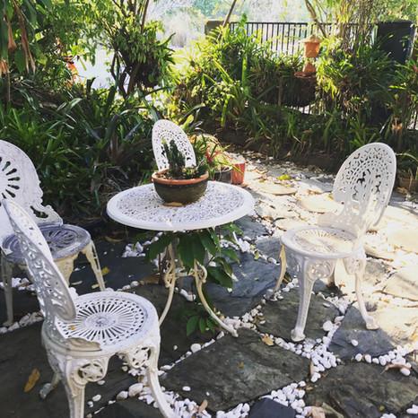 Outside Garden Sitting Area