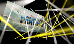 Claypaky fixtures light Black Panther European film première