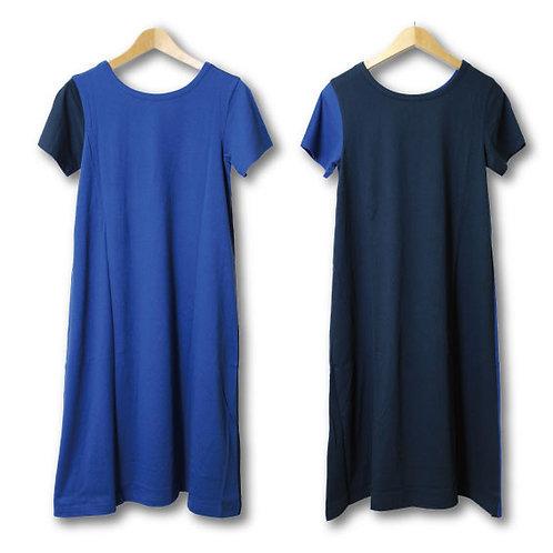bicolor 2way dress