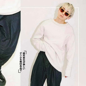 雑誌掲載情報〜asymmetric sweat sh〜