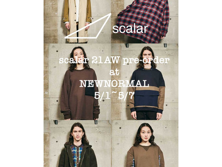 21AW pre-order at NEWNORMAL