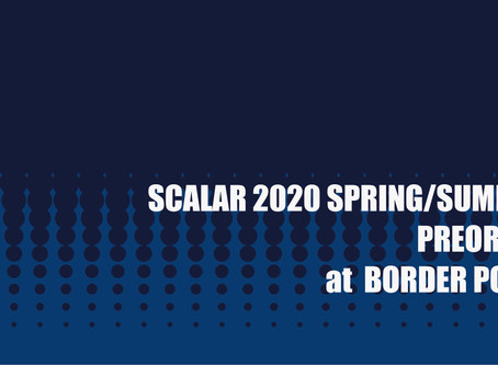 SCALAR 2020 S/S PREORDER at BORDERPOINT