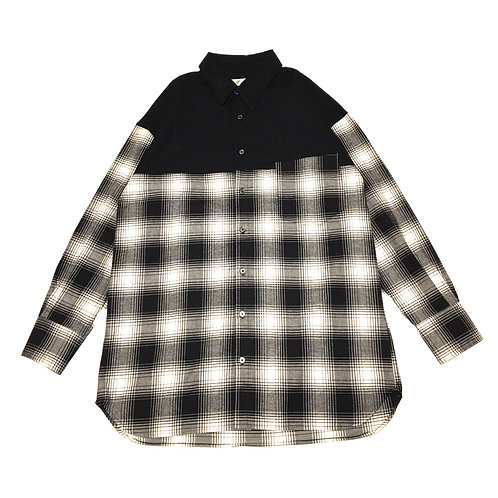 flannel switching shirt