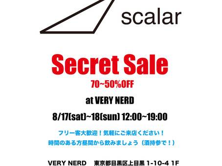 scalar POP UP SHOP at VERYNERD