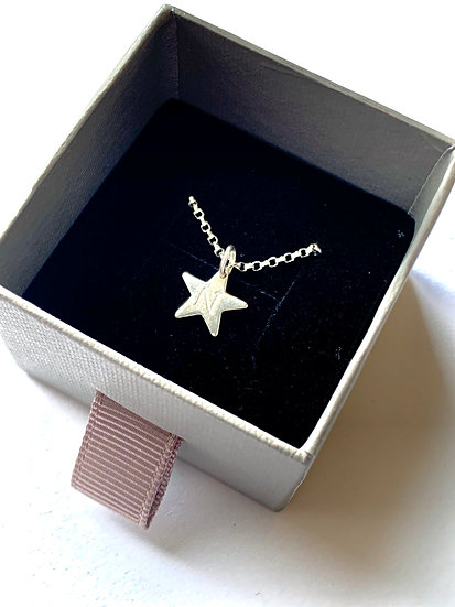 Star Necklace with Initial