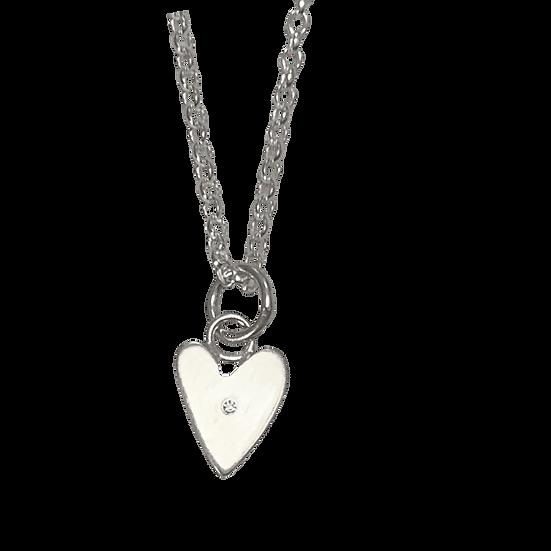 Stone Set Heart Necklace