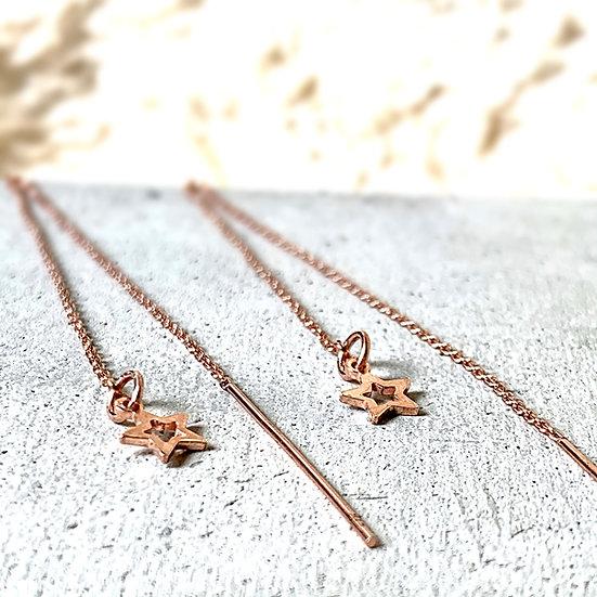 Rose Gold Vermeil Pull Through Earrings