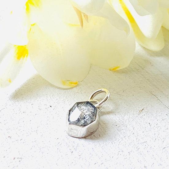 Tiny Irregular Ashes Stone Charm
