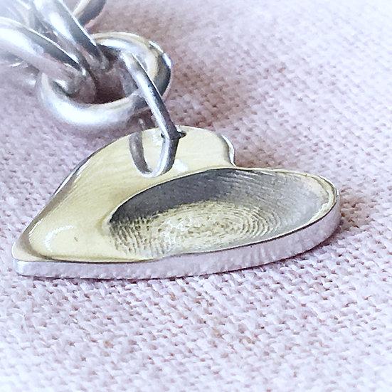 Sterling Silver Fingerprint Charm