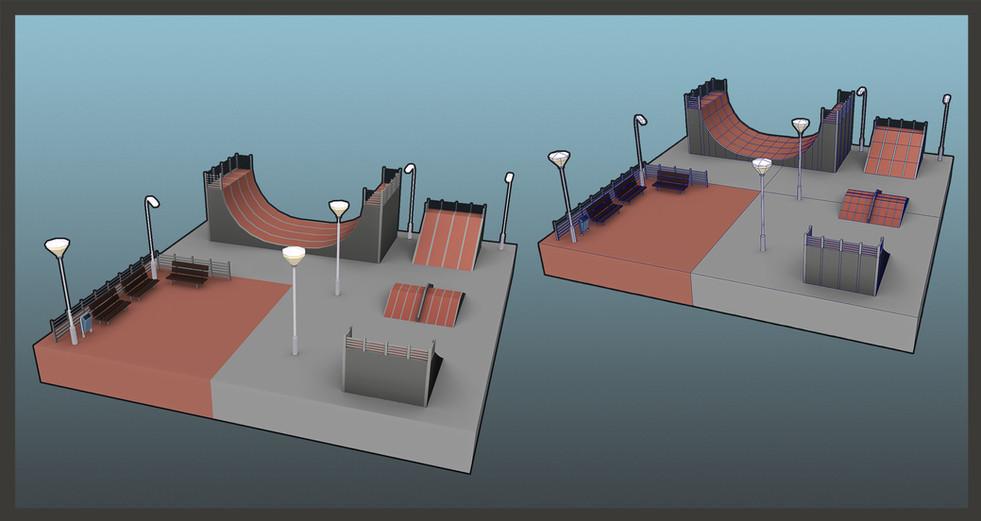 Gamework - 3D Render - Skate Track