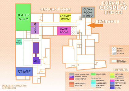 Fomula Cosplay Europe 1st Edition - Floor Map