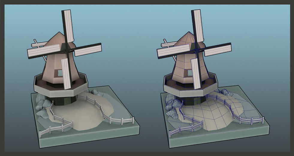 Gamework - 3D Render - Mill