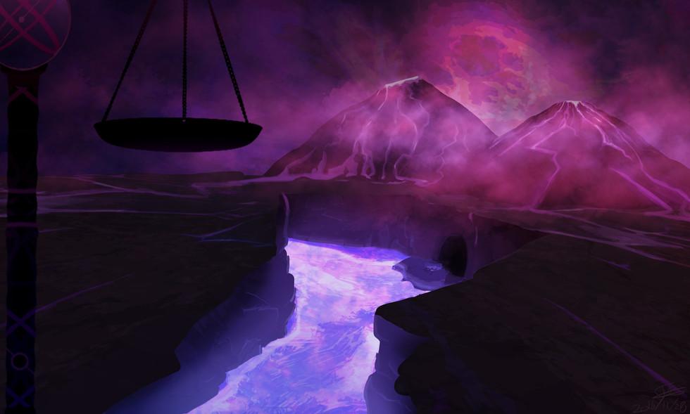 Concept Art Volcano World