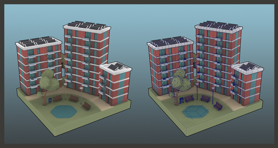 Gamework - 3D Render - Sustainable Apartments