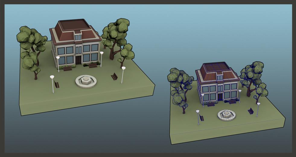 Gamework - 3D Render - Town Hall