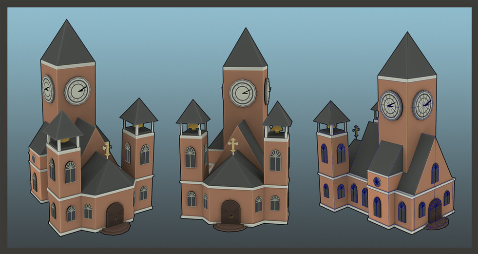 Gamework - 3D Render - Church