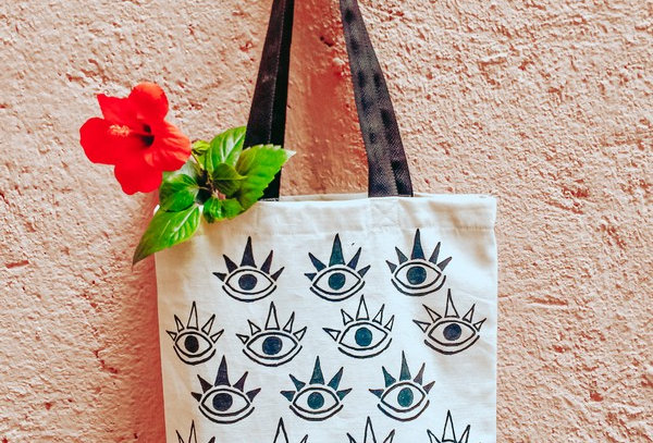 Eyes Canvas Tote Bag