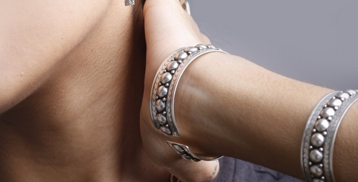 Double Studs Bangle Bracelet