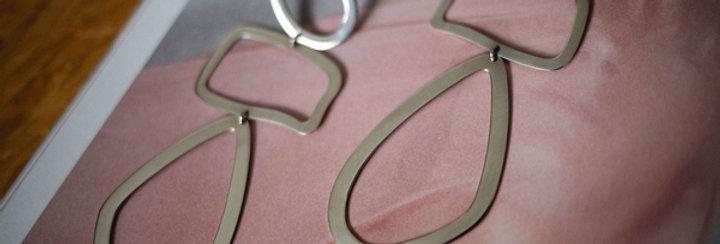 Ara Silver Cut Piece Earrings