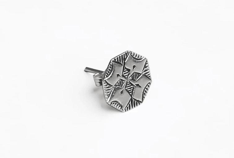 Amazigh Single Rosette Earring - Model II