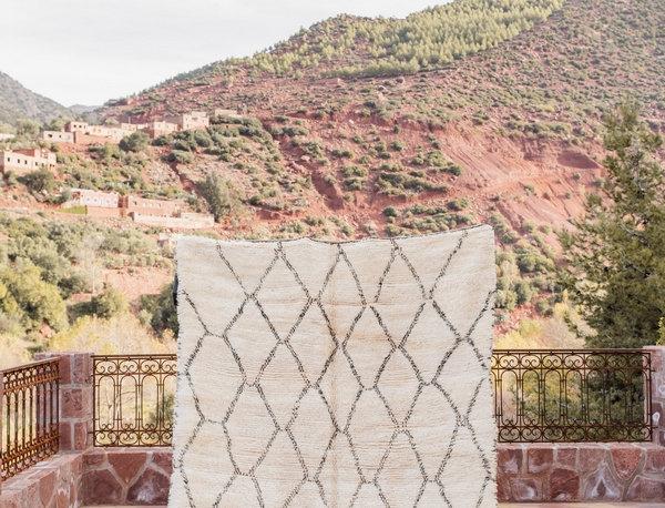 Handmade Beni Ouarain Berber Diamond Patterned Rug