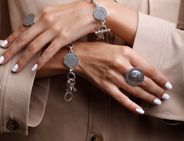 Amazigh Rosette Chain Bracelet