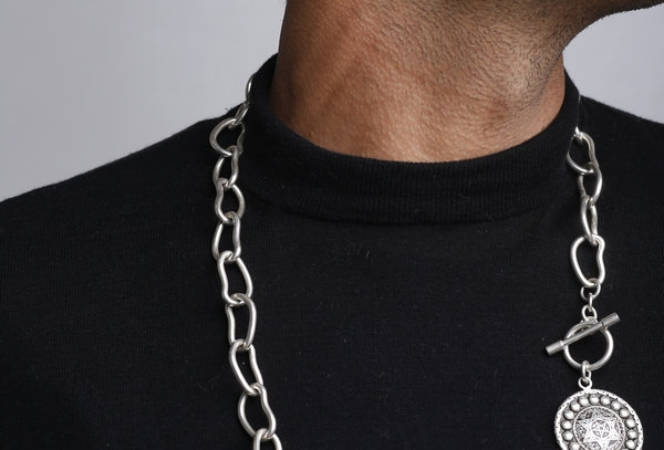 XL Studded Coin Chain LIMITED Necklace
