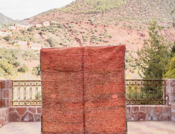 Handmade Vintage Shades of Red Mrirt Rug