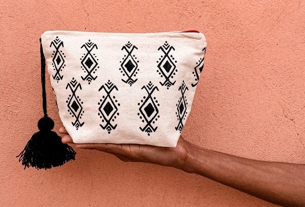 Tit Tamazight White Cotton Purse