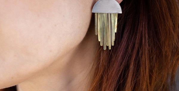 Palma Fringe Silver Earrings
