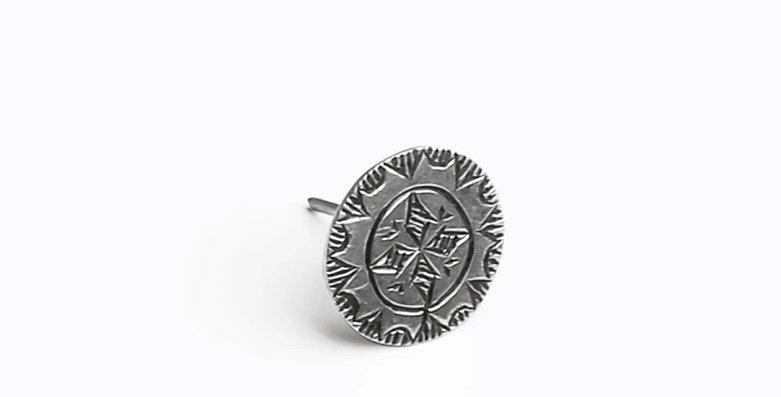 Amazigh Single Rosette Earring - Model I