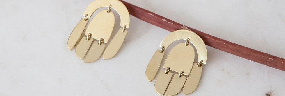 Mara Piece Silver Earrings
