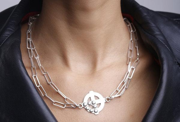 Plus Studs Chain Necklace/Bracelet