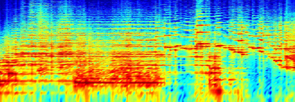 Spectrogram showing the acoustical energy in a male voice