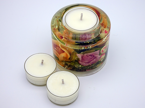 Rose Pillar Tealight Holder