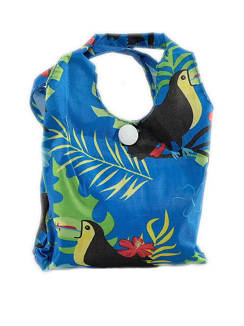 Eco Chic Foldable Shopper Bag Blue Toucan