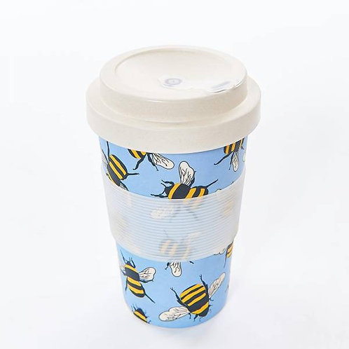Eco Chic Reusable Bamboo Cup - Bees Blue