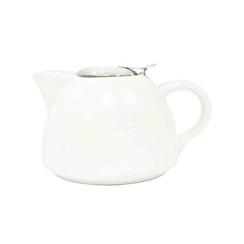 La Cafetière Barcelona Teapot with Filter - Cool White