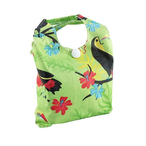Eco Chic Foldable Shopper Bag Green Toucan